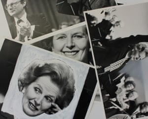 Photographs preserved in the archive capture the work of the newspapers' imaging teams, as well as the subjects of the pictures they processed. These prints of Margaret Thatcher show the chinagraph pencil and sprays used to try and make details appear clearly in newsprint reproductions, or to turn a portrait photograph into a 'floating head'.(Archive ref. OBS/6/9/3/2/T)