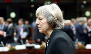 Theresa May at the EU summit in Brussels last week. This afternoon she will make a statement on it in the Commons.