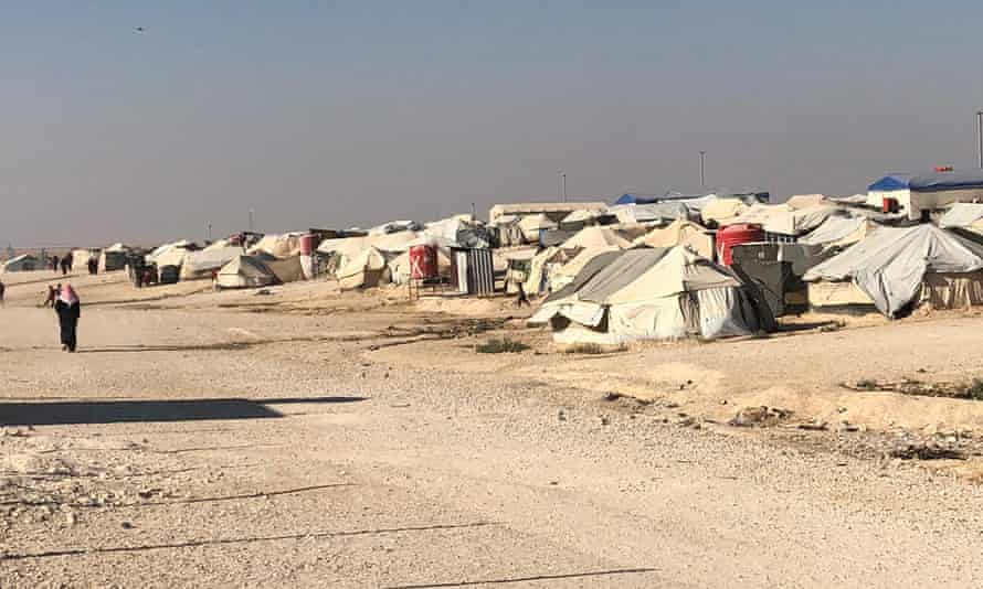 The al-Hawl refugee camp in north-eastern Syria where the five-year-old Canadian girl has been held by Kurdish forces.