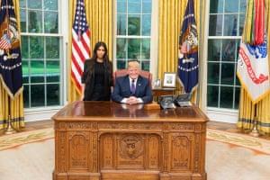Kim Kardashian West meets Donald Trump at the White House.