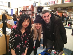 Cibo Matto and Adam Baran at a signing at Other Music, New York on Valentine's Day 2014.
