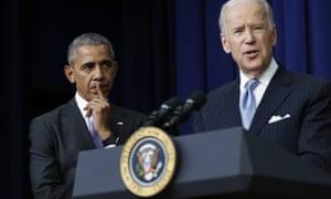 Barack Obama and Joe Biden.