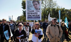 edward snowden protest supporters