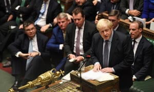 Boris Johnson in the Commons on Saturday