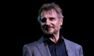 Actor Liam Neeson, who talked to a priest after his abortive revenge mission.