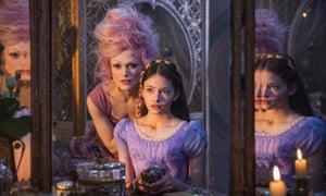 Keira Knightley as the Sugar Plum Fairy and Mackenzie Foy as Clara in Disney's The Nutcracker and the Four Realms.