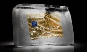 Credit card frozen