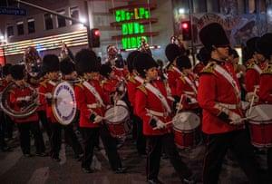Members of the Liberty High School Grenadier Band