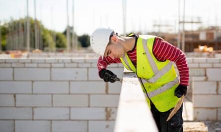 construction site with concrete blocks