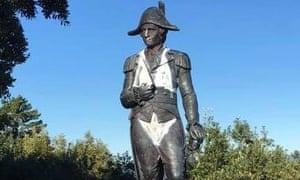 The statue of James Cook has been repeatedly vandalised by locals upset at how he is honoured in Gisborne.