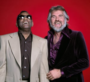 Ray Charles and Kenny Rogers in 1979
