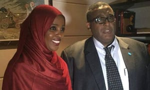 Ifrah Ahmed with the Somali PM