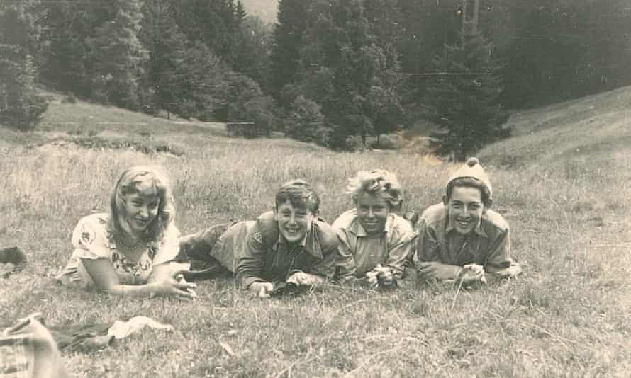 Michael Rosen (second from left) in East Germany.