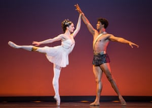Marianela Nuñez with Carlos Acosta in his Classical Selection at the Coliseum.