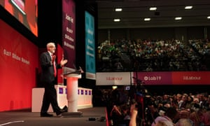 Labour Party Conference, Day 4, Brighton, UK - 24 Sep 2019Mandatory Credit: Photo by Michael Bowles/REX/Shutterstock (10423014n) Jeremy Corbyn addresses the Labour Party Conference, Brighton, UK. Labour Party Conference, Day 4, Brighton, UK - 24 Sep 2019
