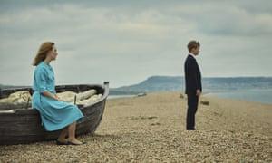 Stony silence … Saoirse Ronan, left, and Billy Howle in On Chesil Beach.