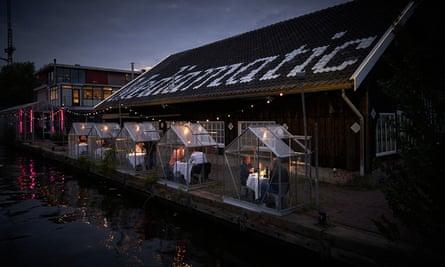 Mini greenhouses at Mediamatic, Amsterdam