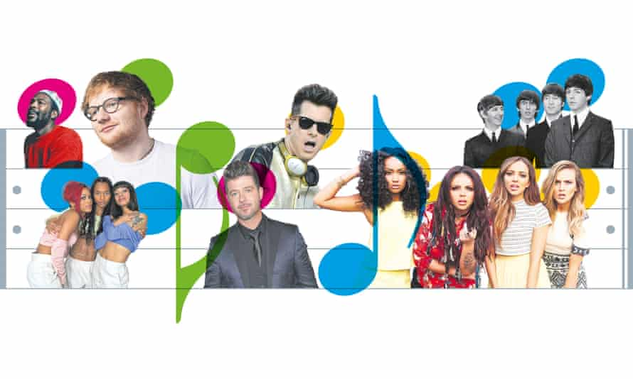 Marvin Gaye, TLC, Ed Sheeran, Robin Thicke, Mark Ronson, Little Mix and the Beatles