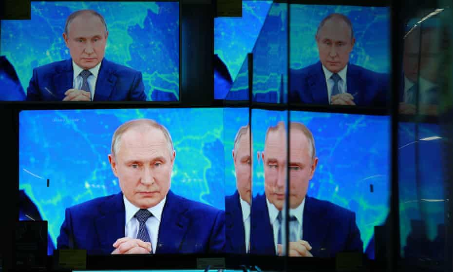 Broadcast of Russian President Vladimir Putin's annual news conference