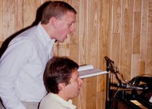 Fiercely talented … Howard Ashman, left, with composer Alan Menken.