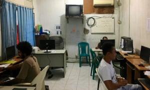 Inside the Timor Post newsroom, Dili