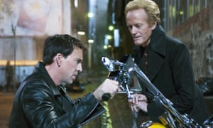 Nicolas Cage with Peter Fonda in Ghost Rider, 2007