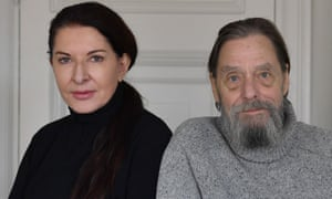 """Marina Abramovic and her former partner Ulay"""
