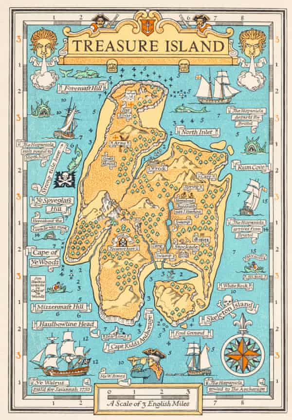 Map for Robert Louis Stevenson's Treasure Island, by Monro Orr, 1934.