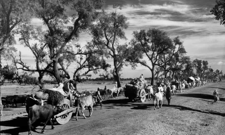 A convoy of Sikhs travels to Punjab after the partition of India in August 1947.