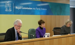 Deputy Commissioner Tony Nicholson, Commissioner Marcia Neave, and Deputy Commissioner Patricia Faulkner at the opening of the royal commission into Family Violence last year.