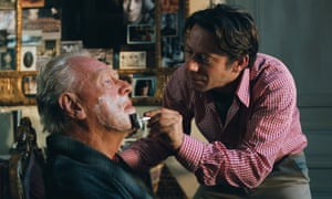 Max von Sydow and Mathieu Amalric in The Diving Bell and the Butterfly, 2007