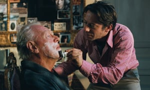 Max von Sydow, left, and Mathieu Amalric in The Diving Bell and the Butterfly, 2007