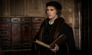 Mark Rylance as Thomas Cromwell in the TV adaptation of Wolf Hall by Hilary Mantel.