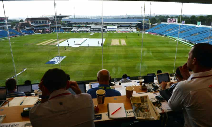 The view from the press box at Headingley.
