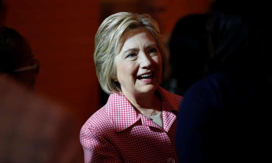 Hillary Clinton arrives for a meeting with community leaders in Oakland, California, May 27 2016.
