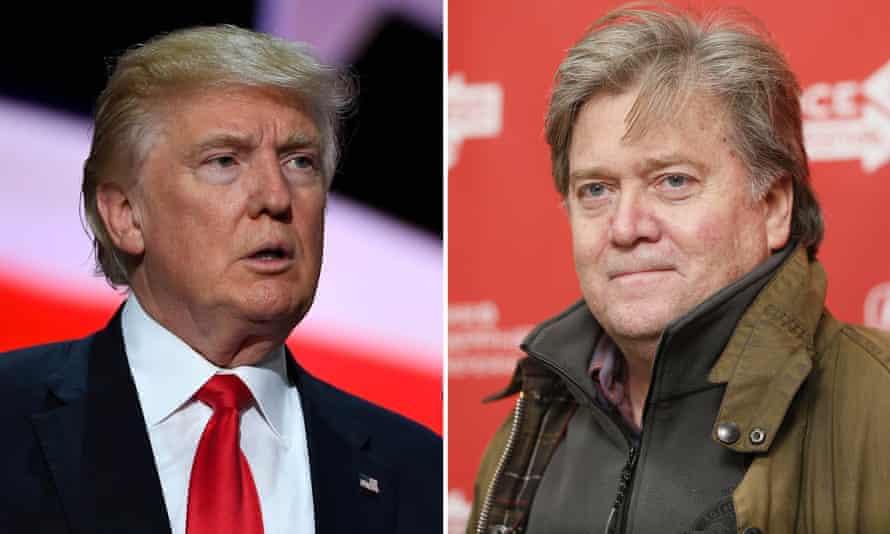 Donald Trump and Stephen Bannon