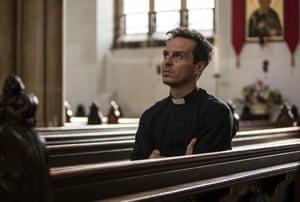 Andrew Scott as The Priest in Fleabag.