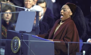 The go-to singer … Norman performing during Bill Clinton's second term inauguration ceremonies.