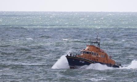 An RNLI boat