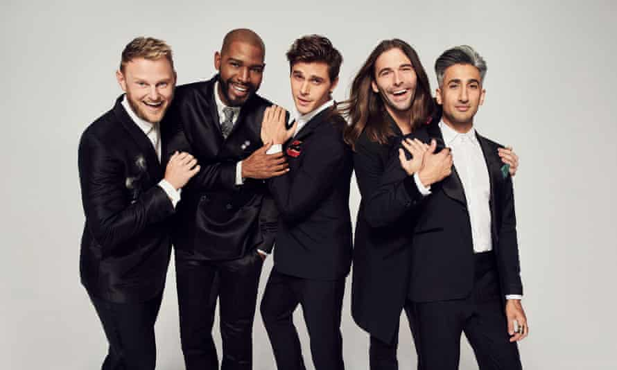 Looking sharp: the Fab Five from the first series of Queer Eye.