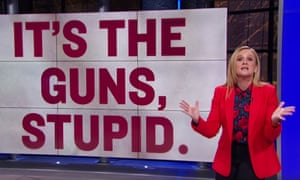 """Samantha Bee to Republican lawmakers: """"Stop trying to make this problem more complex than it is. We know what causes mass shootings and you do too: It's the guns, stupid."""""""