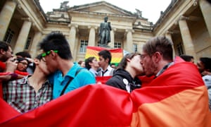 colombia same sex marriage gay marriage kissing flags