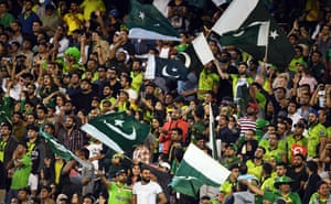 Pakistan fans celebrate victory in the second ODI against Australia at the MCG.