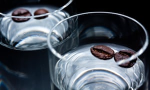 Sambuca with coffee beans – many Italians add it to their espresso.