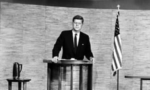 John F. Kennedy during his debate with Richard Nixon, Washington D.C, 7 October 1960.