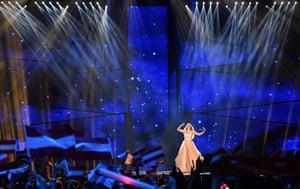Austria's ZOË performs the song 'Loin d'ici'