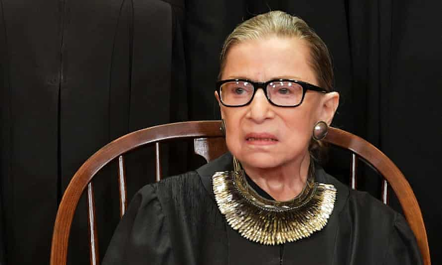 Ruth Bader Ginsburg poses for the official photo at the supreme court in November 2018.