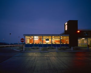 Blyth Services At Night, Blyth, Nottinghamshire, February 1981