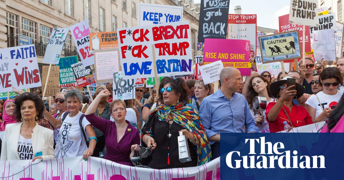 b5d0e3b926 Women lead day of angry London protests against Donald Trump | US ...