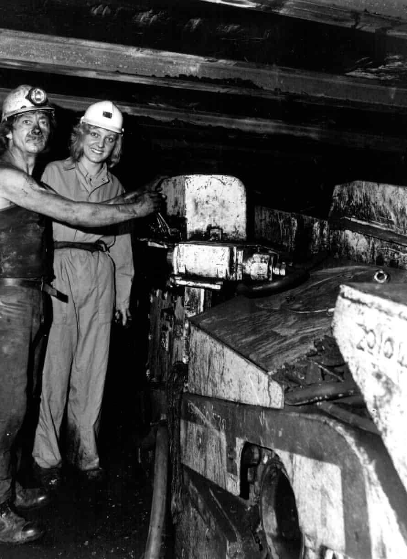 Coal queen Deborah Bramley in a mine.